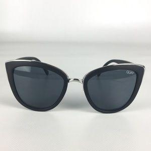 Quay Black Silver My Girl 126 Cat Eye Sunglasses